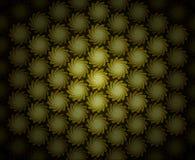 Sepia van de Werveling van Folliage van het patroon Royalty-vrije Stock Afbeelding