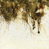 Sepia van Grunge druipende achtergrond Royalty-vrije Stock Foto's