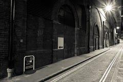 Sepia velho vazio da rua tonificado Fotos de Stock