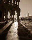 sepia venice san аркады marco изображения Стоковая Фотография RF