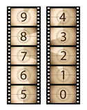 Sepia vertical film countdown Stock Photo