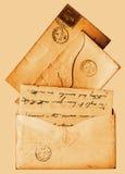 Sepia victorian 1860s- brieven Stock Afbeeldingen