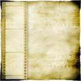 Sepia vintage background with film strip. Retro style Stock Photos