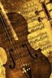 Sepia violin Stock Photos