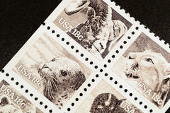 Sepia wildlife stamps. U.S. wildlife stamps from 1981 Royalty Free Stock Photos
