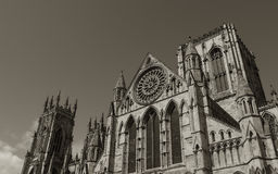 Sepia York Minster Royalty Free Stock Photography