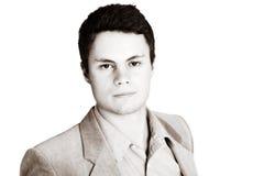 Sepia zakenman Stock Fotografie