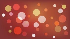 Sepiavektorbakgrund med cirklar Illustration med upps?ttningen av att skina f?rgrik gradering Modell f?r h?ften, broschyrer vektor illustrationer