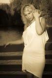 Sepiowa dziewczyna Zdjęcia Stock