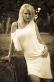 Sepiowa dziewczyna Fotografia Stock