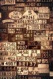 Sepiowe tablicy rejestracyjne Zdjęcie Royalty Free