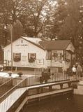 Sepiowi łódź kędziorki obrazy royalty free