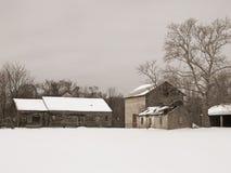sepiowy z gospodarstw rolnych Fotografia Royalty Free