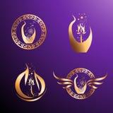 Sepoltura naturale Logo Set illustrazione di stock