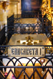 Sepoltura Peter del lizabeth I dell'imperatore e cattedrale di Paul in fortezza, St Petersburg, Russia Immagine Stock