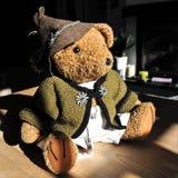 Sepp from Bavaria -Teddybear, unique and handmade royalty free stock photos