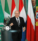 Sepp Blatter lizenzfreie stockfotos