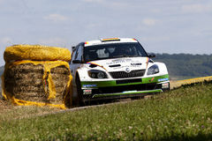 Sepp Wiegand at ADAC Rally Deutschland 2013 Royalty Free Stock Images