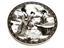 Seppia cinese del piattino della porcellana Fotografie Stock Libere da Diritti
