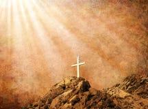 Seppia Cross2 Fotografie Stock Libere da Diritti