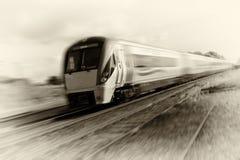 Seppia d'accelerazione 2010 del treno che tonning Fotografie Stock Libere da Diritti