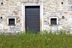 seprio抽象生锈的闭合的木意大利伦巴第 免版税图库摄影