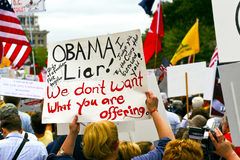 Sept 12, 2009:  Tea Party March on Washington D.C. Royalty Free Stock Image
