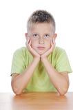 Sept ans de garçon Photo stock