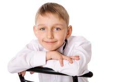 Sept ans de garçon Photo libre de droits