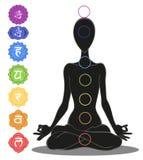 Sept chakras illustration de vecteur