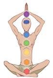 Sept chakras illustration libre de droits