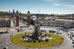 Sept. de 2017 de Barcelona España - detalle del trabajo de mosaico colorido del PA Foto de archivo libre de regalías
