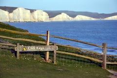 Sept falaises de craie de soeurs, le Sussex est, Angleterre Image stock