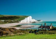 Sept falaises de soeurs chez le Sussex Photos stock