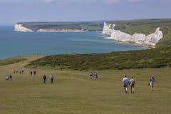 Sept falaises de soeurs dans le Sussex est Images stock