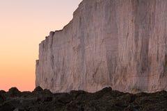 Sept falaises de soeurs, R-U photos stock