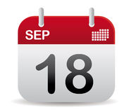Sept-Kalender Fastfood- Stockfotos