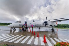 Sept 20,2017 llegó pasajero el aeropuerto de Basco, Batanes del mA Fotos de archivo libres de regalías