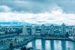 Sept. moderno de 2017 de Vancouver Canadá de la arquitectura de las torres altas imagen de archivo libre de regalías