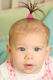 Sept mois de fille de bonheur Images stock