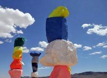 Sept montagnes magiques Art Exhibit Outside Vegas Photos stock