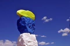 Sept montagnes magiques Art Exhibit Outside Vegas Photographie stock