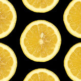 Sept parts de citron photo stock