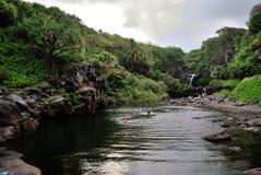 Sept regroupements sacrés de l'Ohio, Maui, Hawaï Photographie stock libre de droits