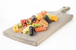 Sept saveurs des pâtes italiennes photo stock
