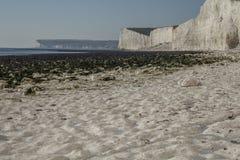 Sept soeurs, East Sussex, Angleterre ; plage blanche image libre de droits