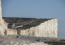 Sept soeurs, East Sussex, Angleterre, R-U ; bleu et blanc photos libres de droits