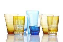 Sept verres Image libre de droits