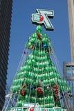 Sept vers le haut de l'arbre de Noël à Changhaï Photo stock