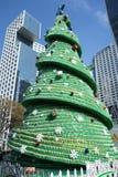 Sept vers le haut de l'arbre de Noël de bouteille Image stock